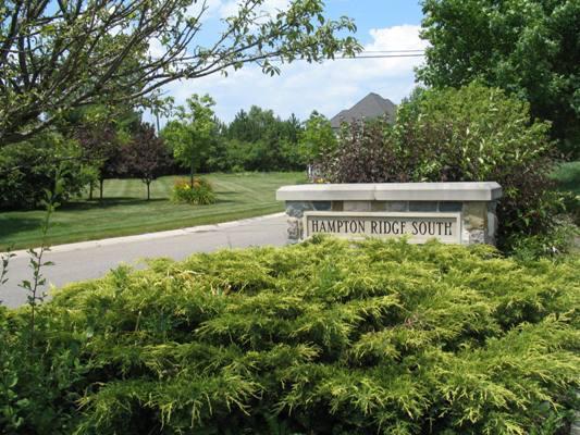 Hampton Ridge South Neighborhood Sign in Canton