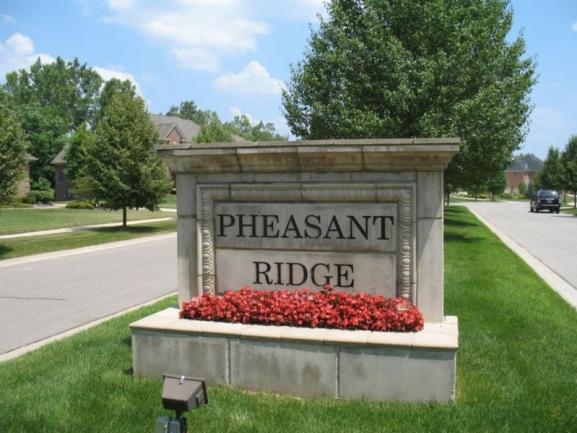 Pheasant Ridge Neighborhood Sign in Canton