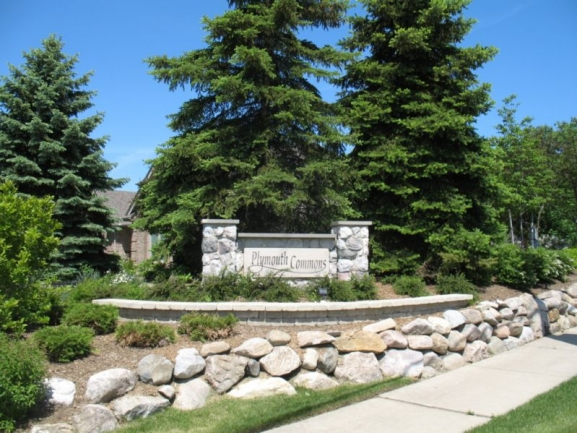 Plymouth Commons Subdivision Entrance Sign