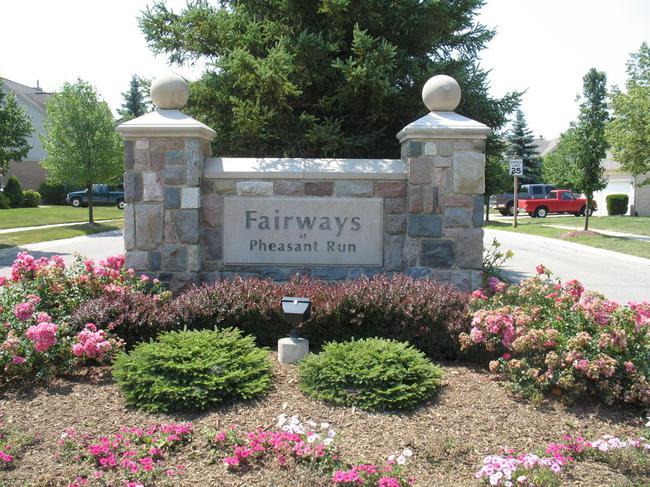 Fairways at Pheasant Run Neighborhood Sign in Canton