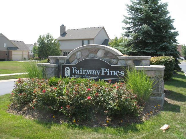 Fairway Pines Neighborhood Sign in Canton