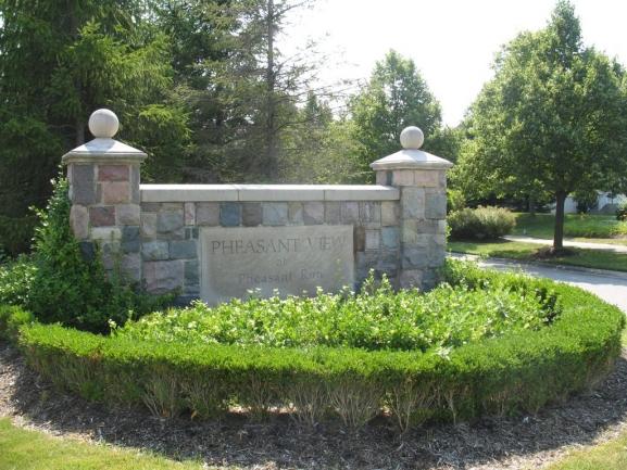 Pheasant View Neighborhood Sign & Landscaping
