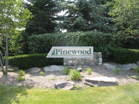 Pinewood Neighborhood Sign