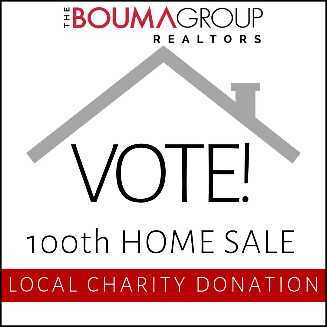 100th Home Sale Vote button