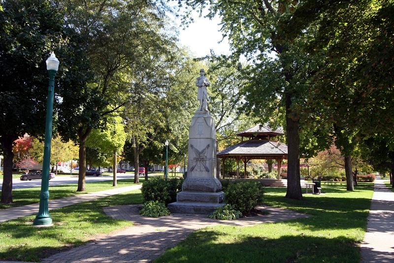 Monument Park in Downtown Dexter MI