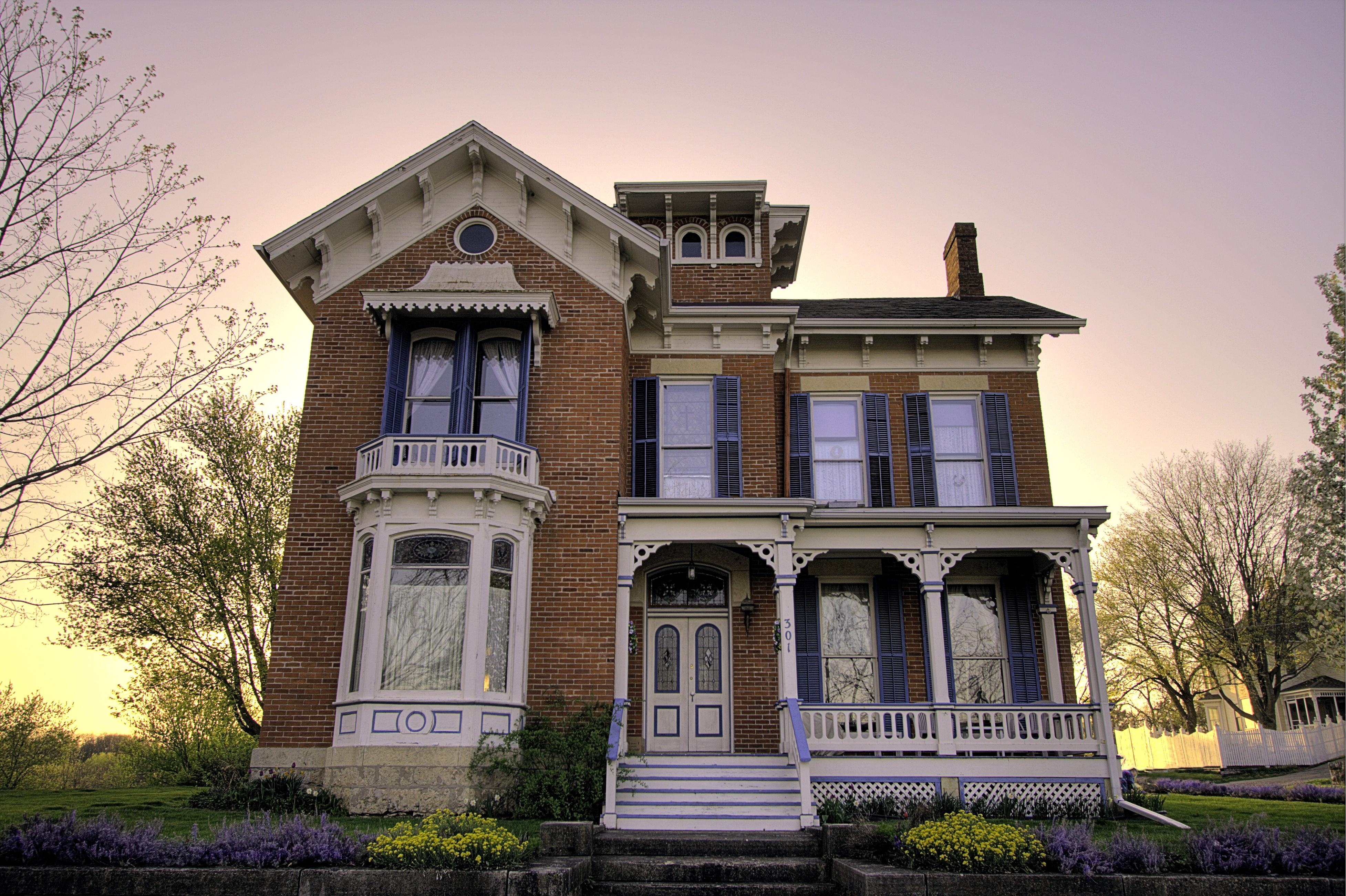 Victorian House in Downtown Area