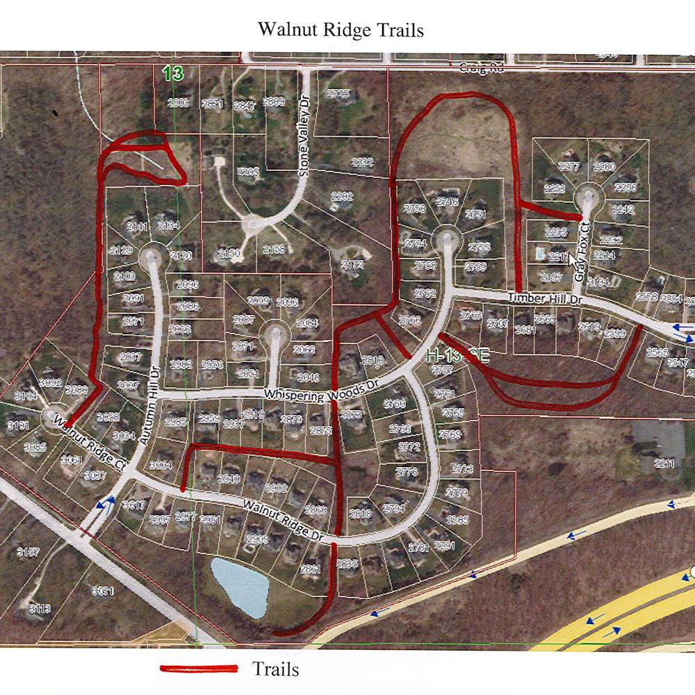 Walnut Ridge Trail Map