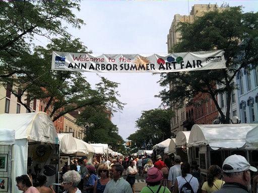 Ann Arbor Art Fair Downtown Ann Arbor