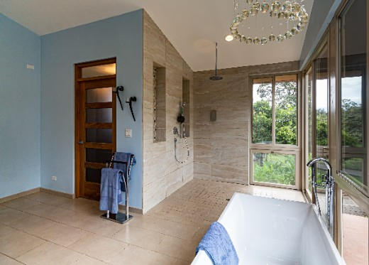 very nice upgraded bathroom
