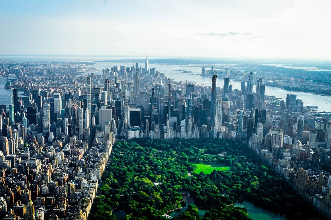 views of the upper west side and central park