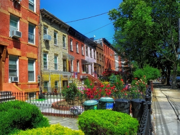 Brownstones are common in Bedford-Stuyvesant