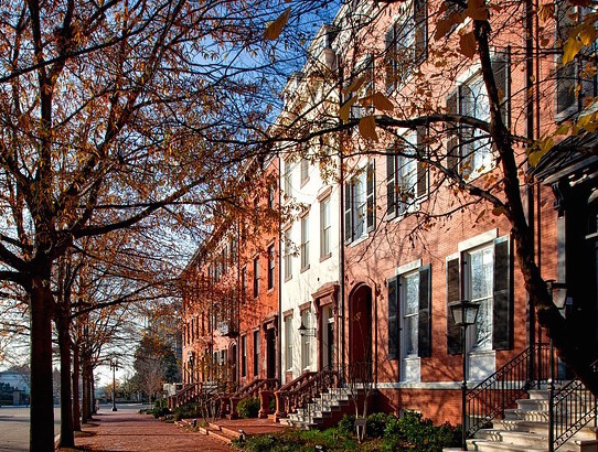Rowhouses are common in Boerum Hill