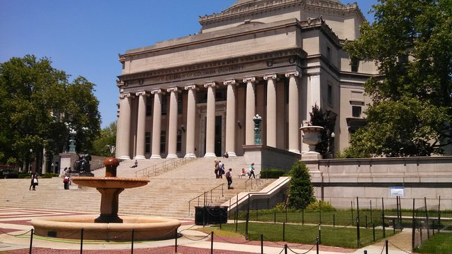 Columbia University, located in Morningside Heights.