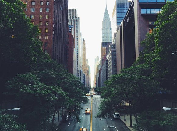 The Chrysler Building from Murray Hill.