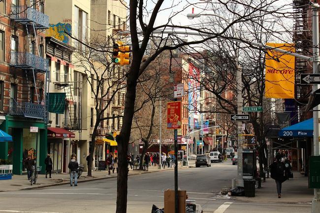 A bustling SoHo street