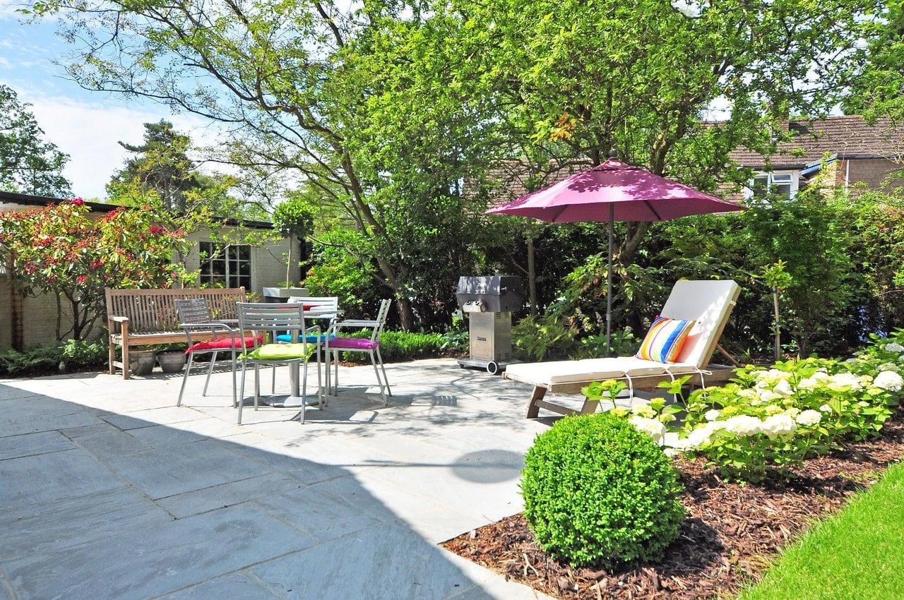 Outdoor patio area.