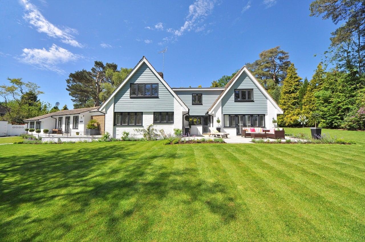 Spacious white home.