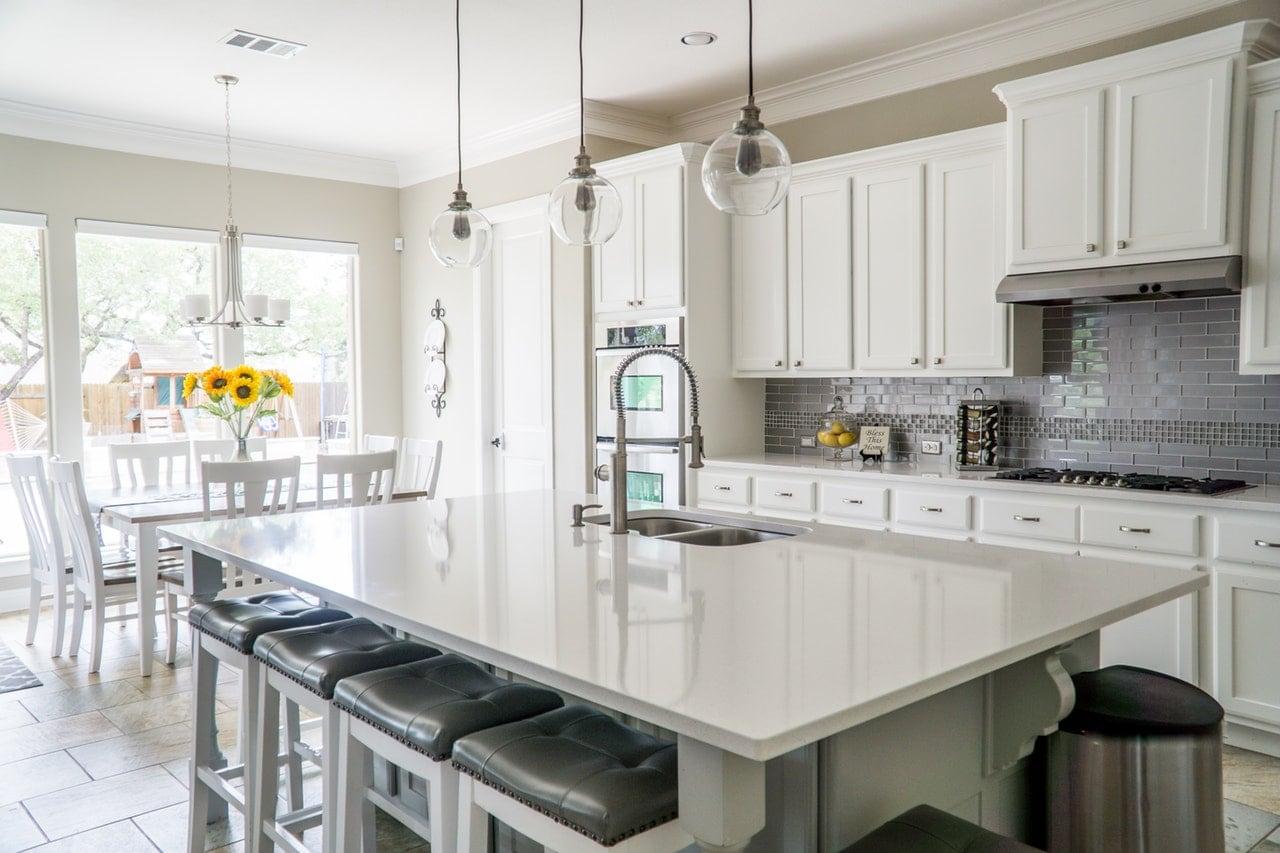 Deluxe kitchen interior.