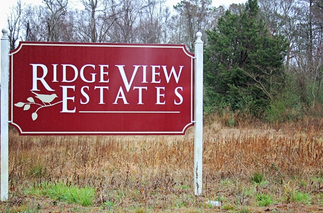 Ridge View Entrance