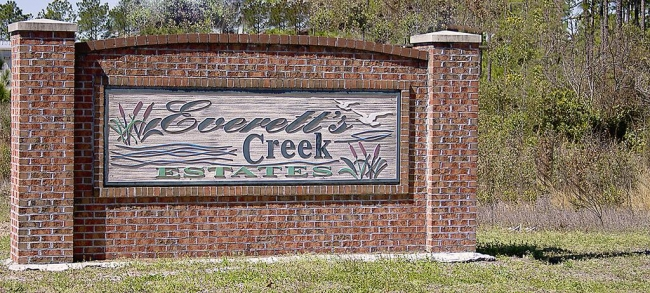 Everetts Creek Estates Entrance