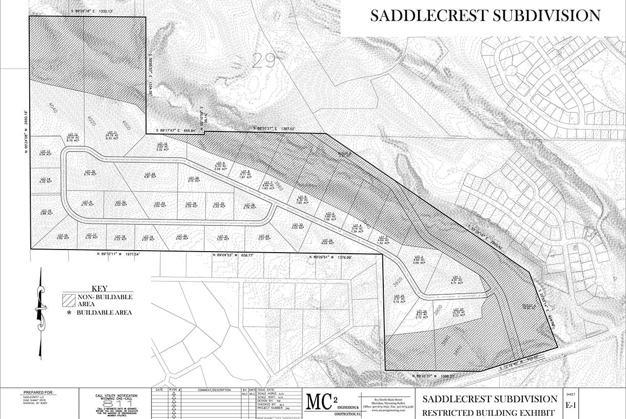 site plans of saddlecrest