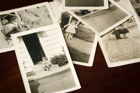 old photographs of people and homes