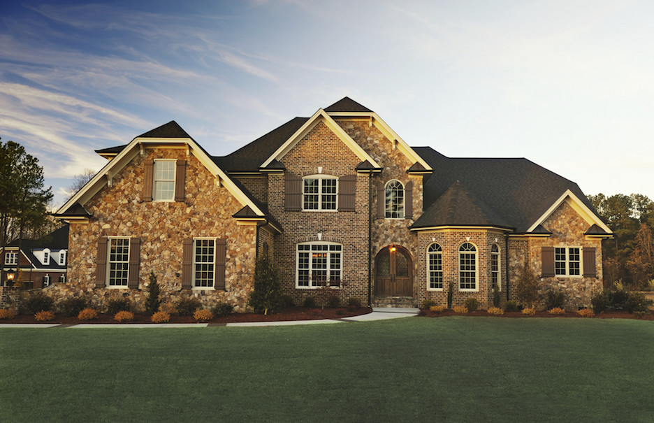 brick house in a Charlotte suburb