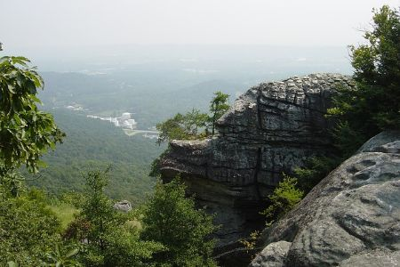the rocks and view from Rock City