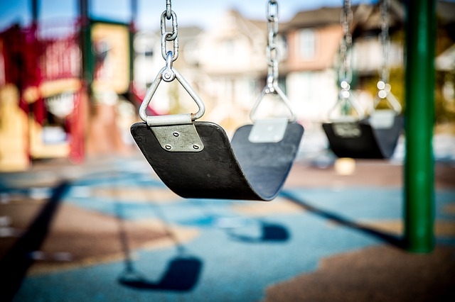Swing in a playground.