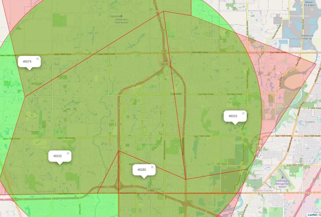 zipcode map