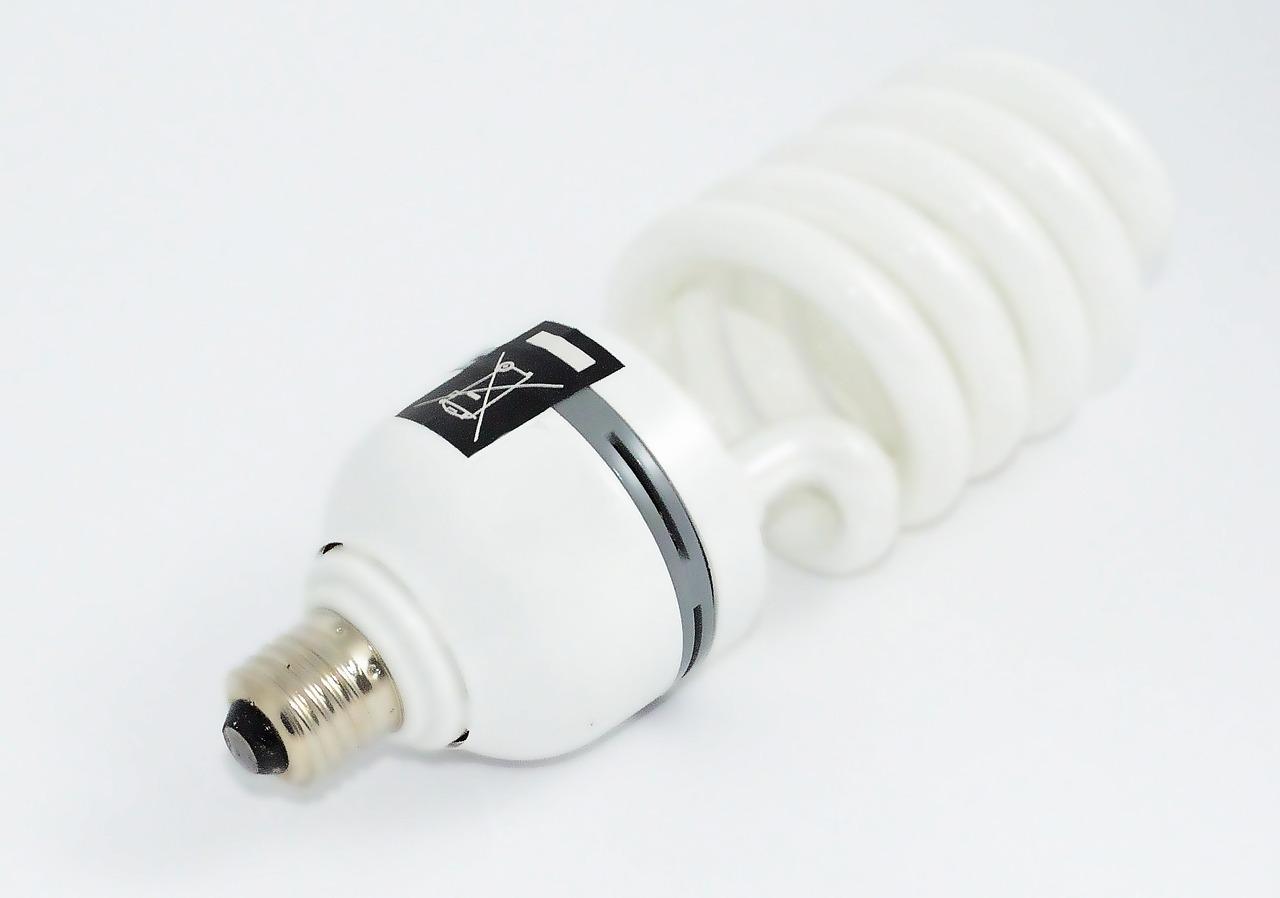 led lightbulb on white background