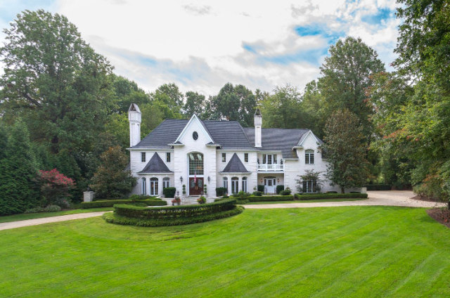 luxury white home