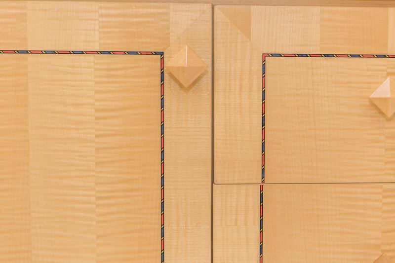 very close up of wooden door