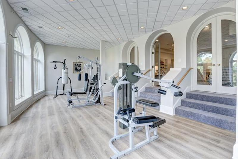 white gym room