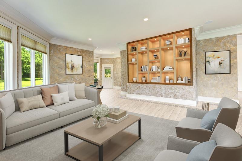 fancy white dining room