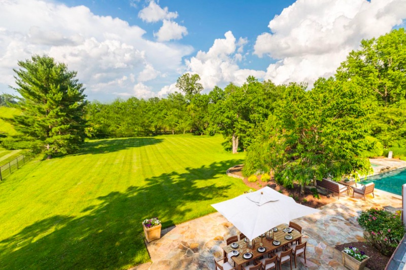 overlook of patio and backyard