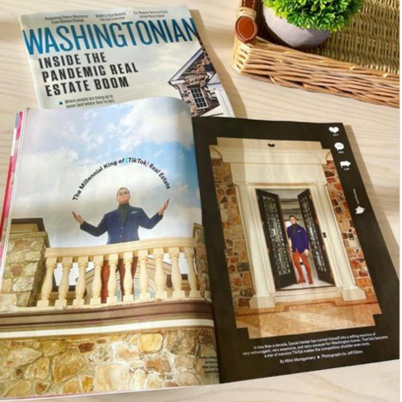 Daniel Heider on cover of Washingtonian