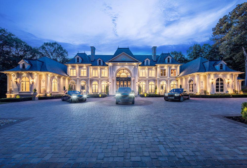 luxurious white mansion