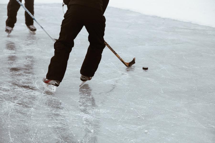 people playing hockey