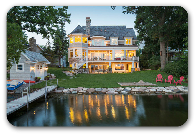 Lake Minnetonka waterfront home with a boat dock