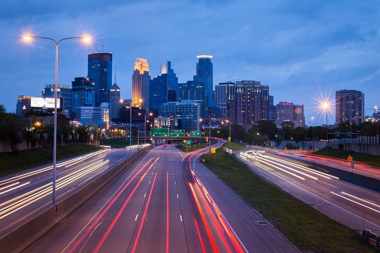 Shot of Minneapolis.