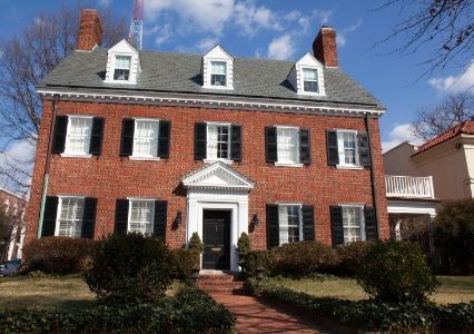 a colonial-style house like the real estate options in American University Park