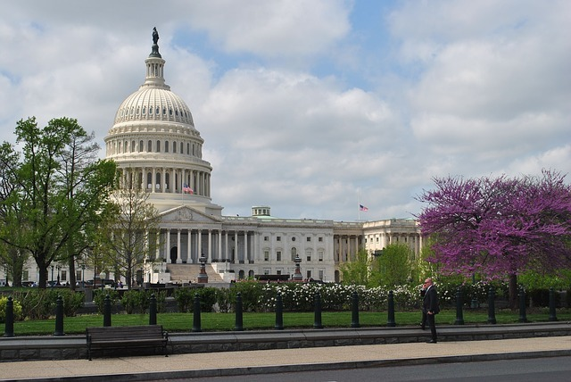The front of the US Capitol building in Capitol Hill