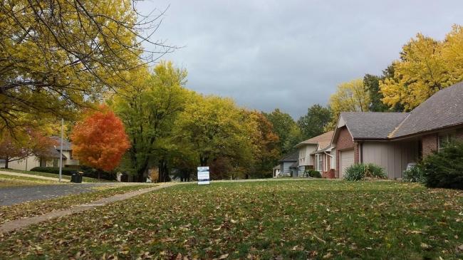 Beautiful homes await along tree-lined streets.