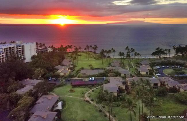 Wailea Elua at sunset fronting the world famous Ulua beach