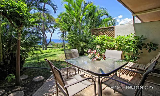 Ocean view ground floor unit at Maui Kamaole