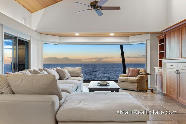 Example of a Wailea Point unit remodeled in 2020 with all new bay windows