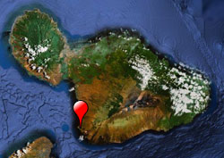 map with Makena highlighted