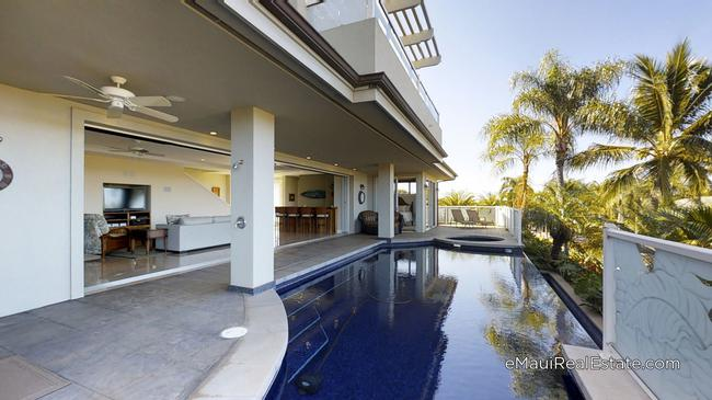 Homes at Wailea Pualani are custom masterpieces, many with spacious pools
