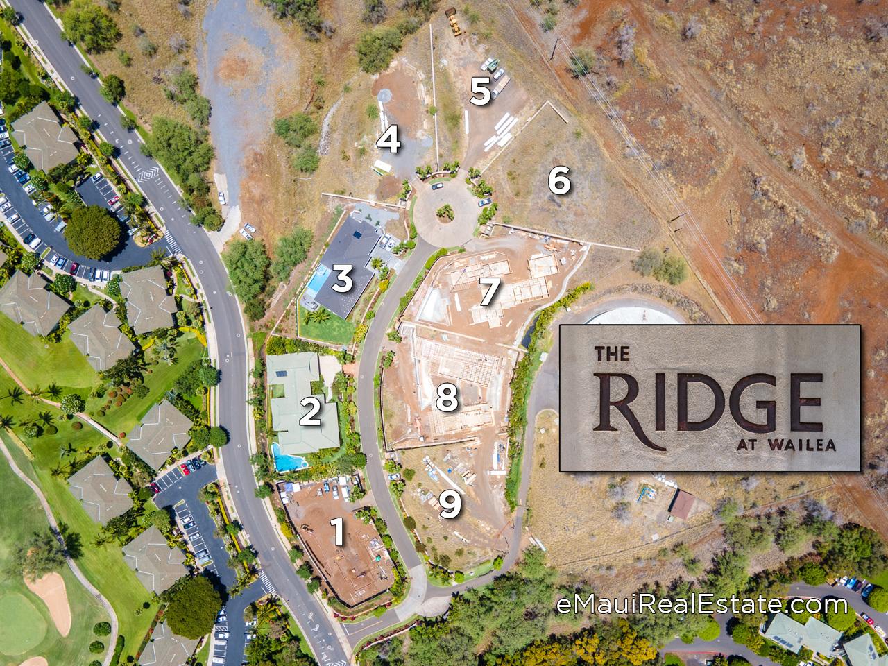 The Ridge at Wailea map